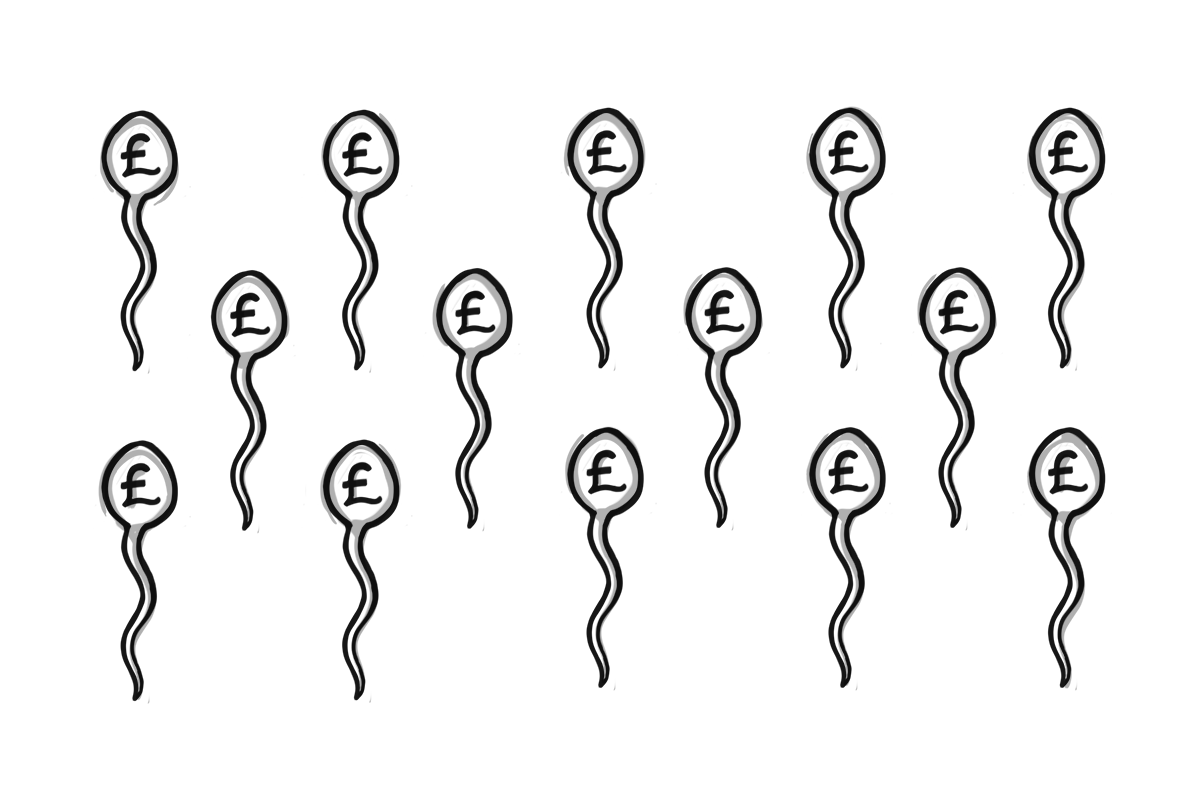 Sperm with pound signs