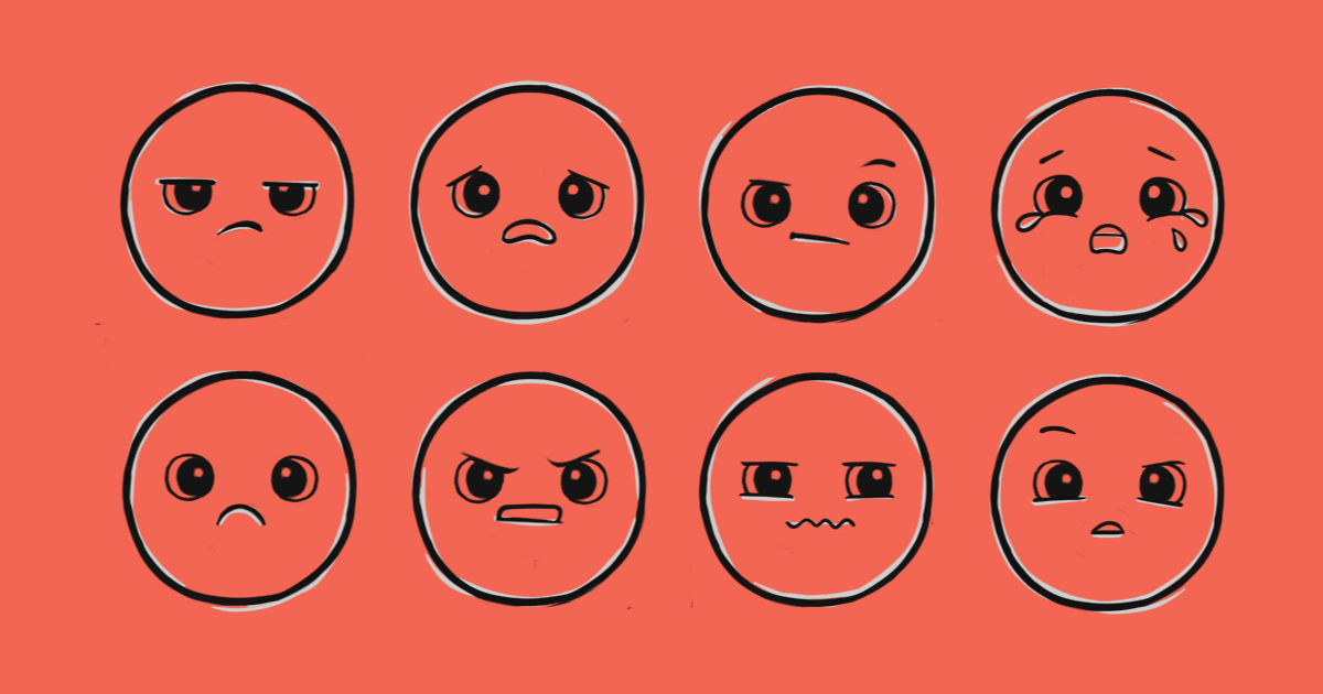 Unhappy emojis